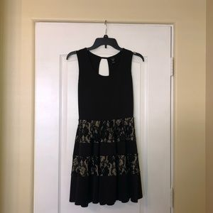 Windsor Striped Lace Dress